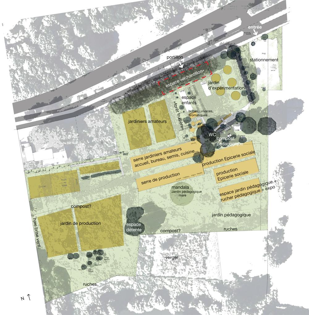 plan du projet d'aménagement